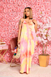 KOTTON KANDY MELANIE MAXI  (YELLOW/PINK)