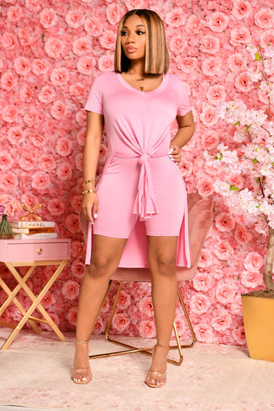 BASIC SLIT SET PINK