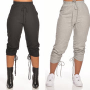 RUCHED SWEATPANTS