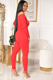 BASICALLY YOURS JUMPSUIT (RED)