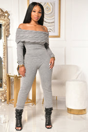 WARM IN STYLE JUMpSUIT