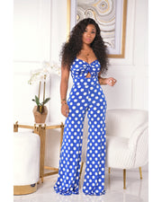 SWEET BLUE POLKA JUMPSUIT