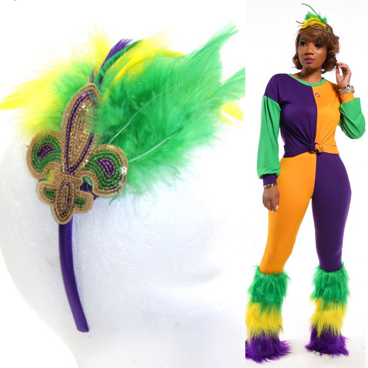 Mardi Gras Feather Headband