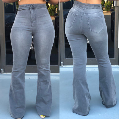 Gray Flares Jeans