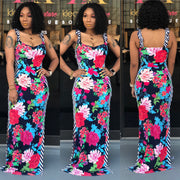 Florals n Stripes Maxi