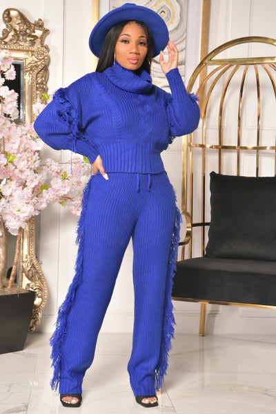 SASSY SWEATER SET (ROYAL BLUE)
