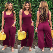 BASIC POCKET CULOTTE JUMPSUIT