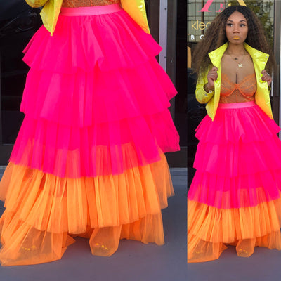 Neon Barbie Tulle Skirt