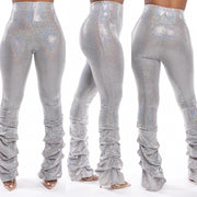 Metallic Tiered Pants