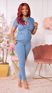 Jodi Denim Jumpsuit ( Light wash)