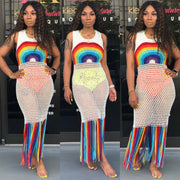 Rainbow Crochet Coverup