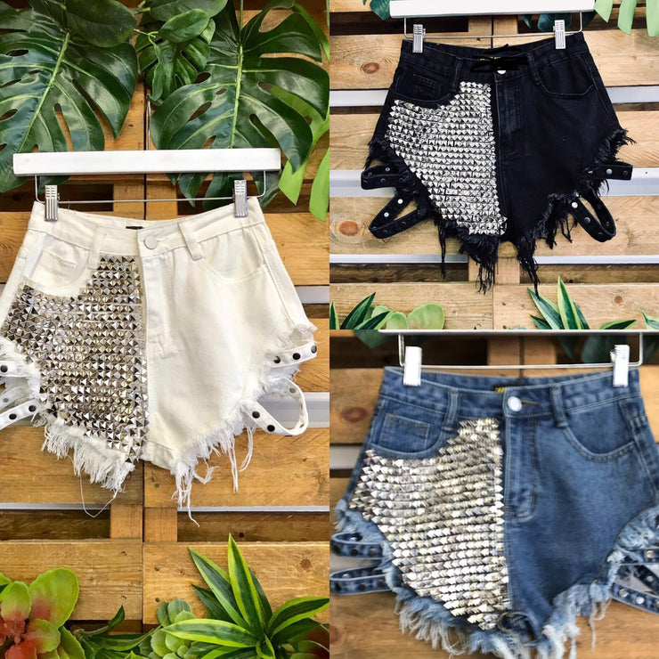 Cheeks Studded Shorts
