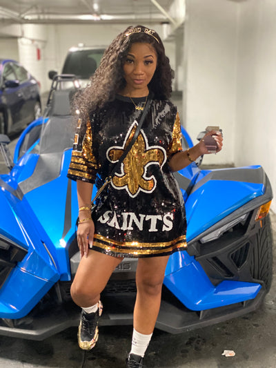 Saints Sequin Jersey