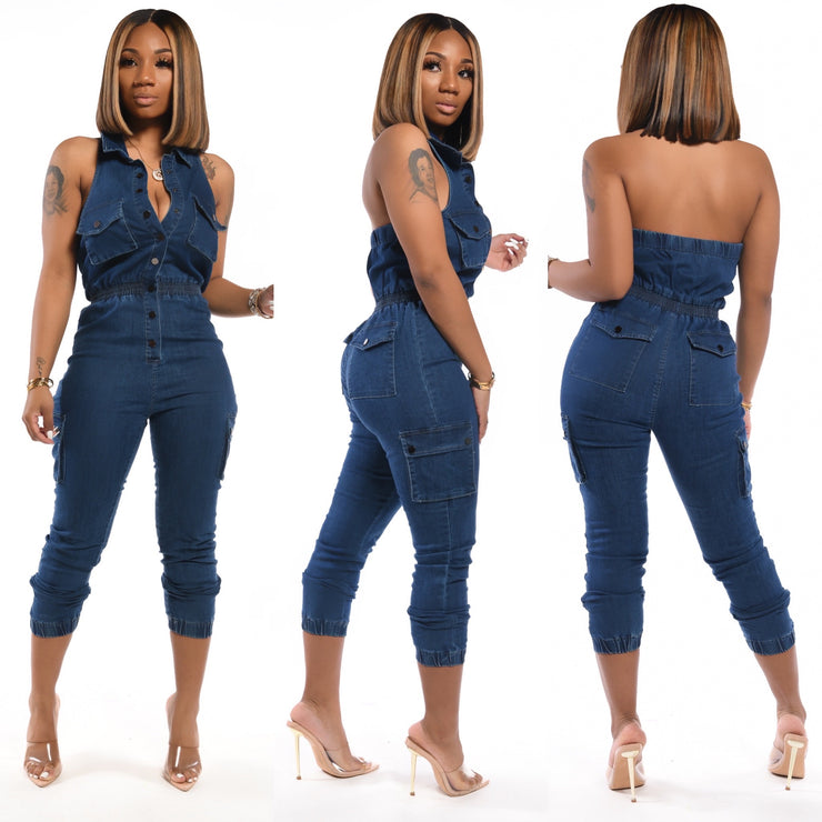 Blair Denim Jumpsuit
