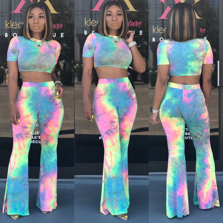 Cotton Candy FLARE PANT SET