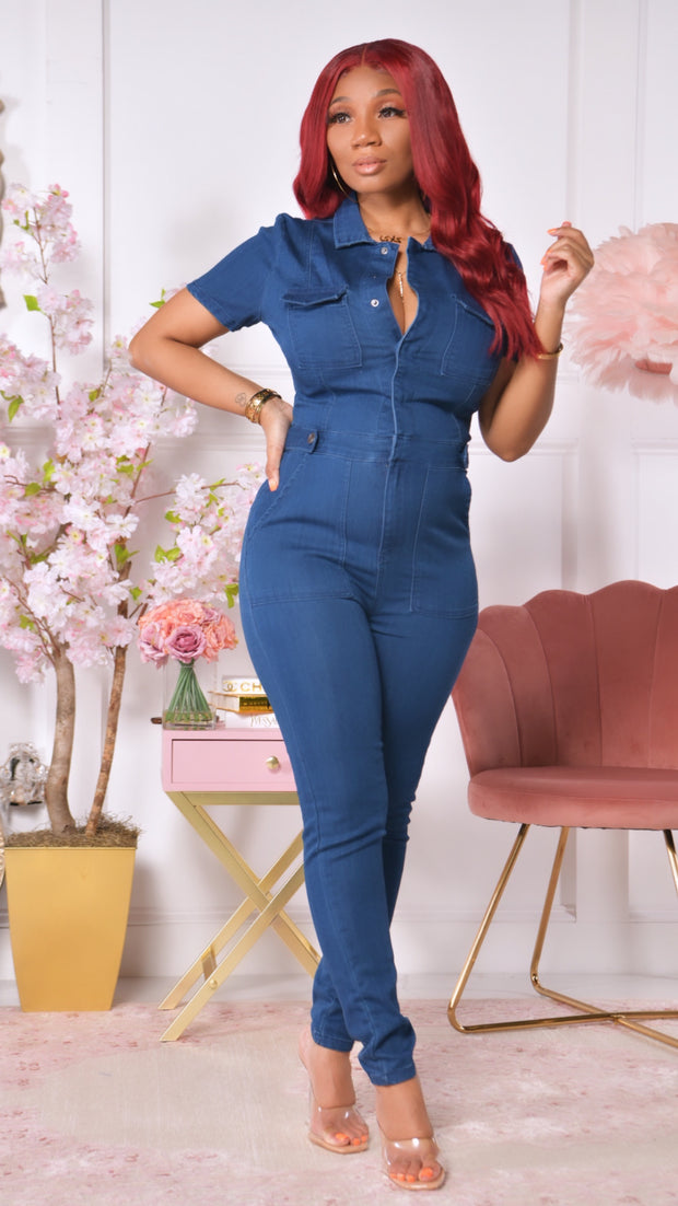 Jodi Denim Jumpsuit ( Dark wash)