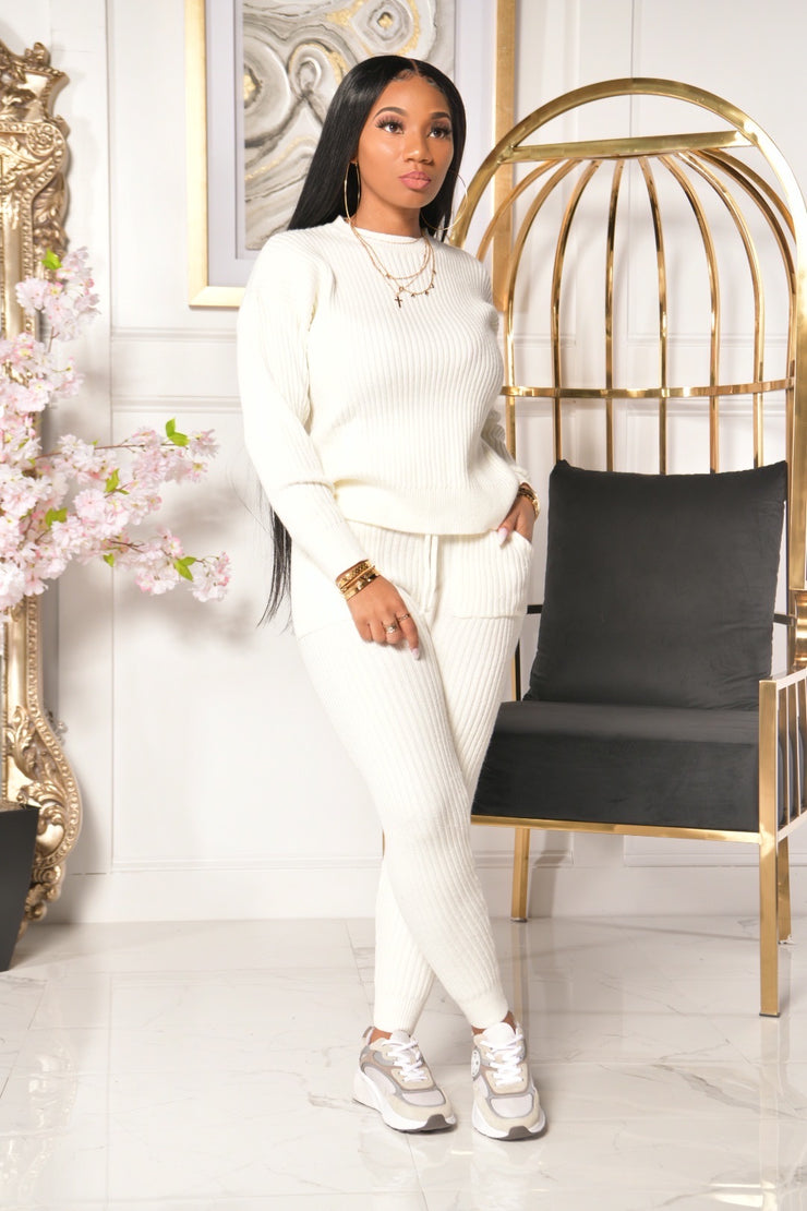 COMFY SWEATER SET (IVORY)