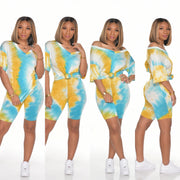 TYE DYE V NECK BASIC SET