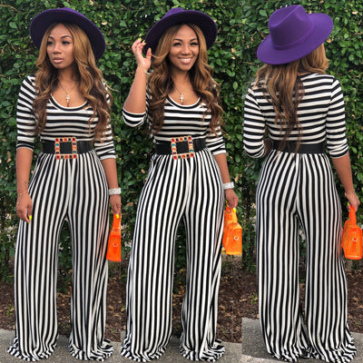 New Baby Doll Stripes Jumpsuit