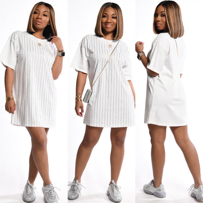 SimplY Glitzy Tee Shirt Dress