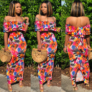 Orange Florals Set