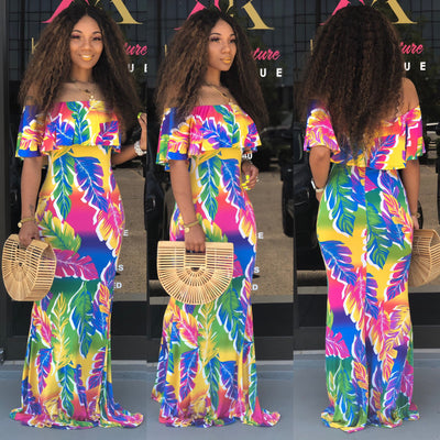 Colored Palms Maxi