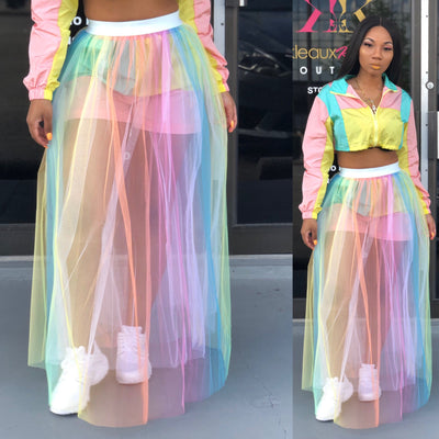 Rainbow Tulle Skirt