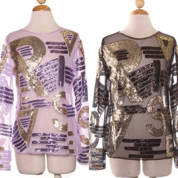 Sequin Designer Inspired Tops
