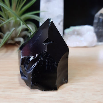 Black Obsidian Rough Mini Point - OBA