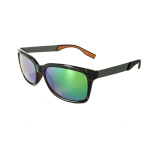 Redtail Republic Matagorda Tortoise/Green Mirror Amber Polycarbonate UV Polarized Unisex Fishing Sunglasses