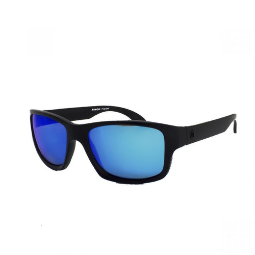 Redtail Republic Freeport Matte Black/Blue Mirror Amber Polycarbonate UV Polarized Unisex Fishing Sunglasses
