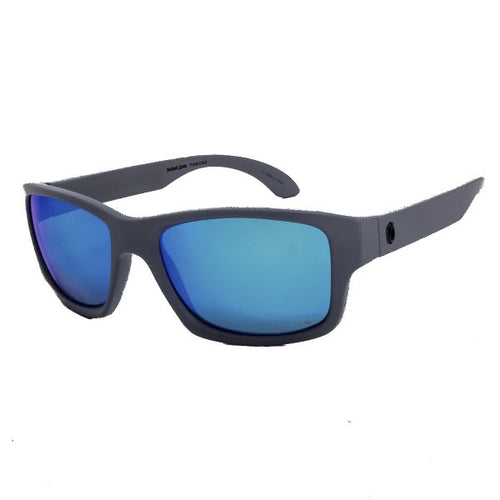 Redtail Republic Freeport Matte Grey/Blue Mirror Amber Polycarbonate UV Polarized Unisex Fishing Sunglasses