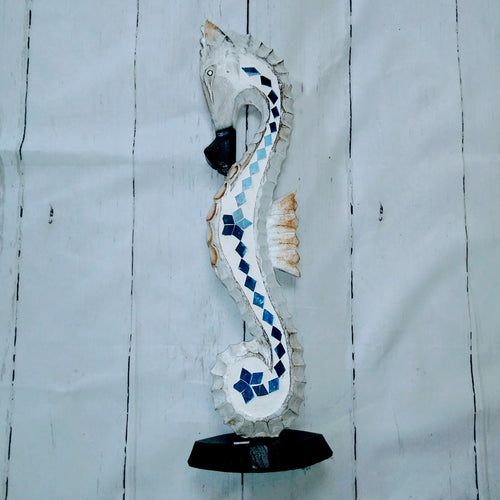 Wooden Decorative Sea Horse Display Art