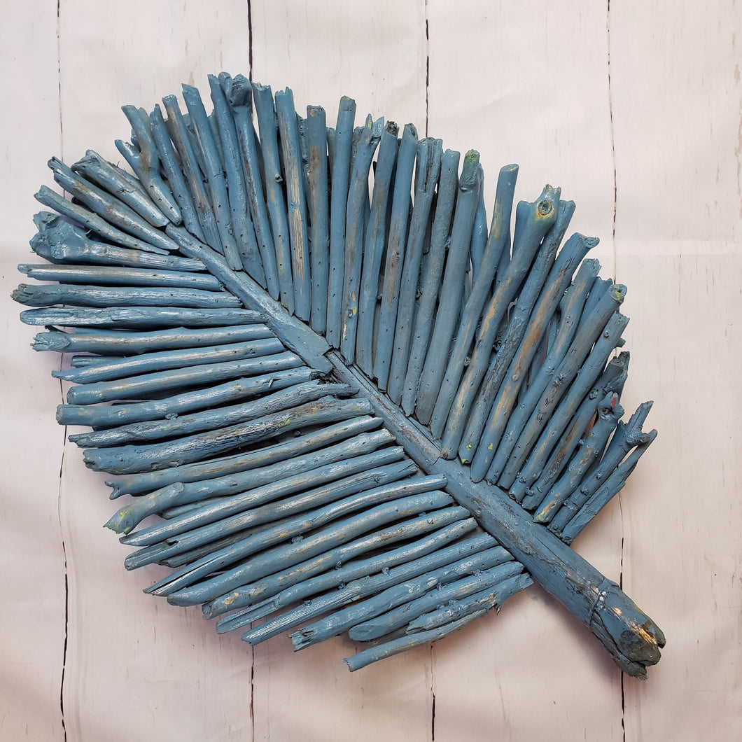 Driftwood Palm Leaf Wall Art