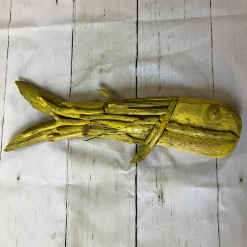 Handmade Painted Driftwood Fish Wall Art
