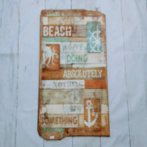 Wooden Beach Quote Wall Art