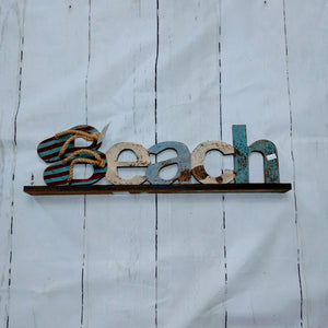 "Decorative ""Beach"" Wooden Art Piece"
