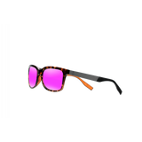 Matagorda Shiny Tortoise/Pink Mirror Grey Polycarbonate UV Polarized Unisex Fishing Sunglasses