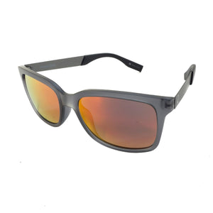Redtail Republic Matagorda Smoke Grey/Red Iridium Mirror Grey Polycarbonate UV Polarized Unisex Fishing Sunglasses