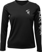 Ladies Pirate Cross Anchor Long Sleeve Performance V-Neck