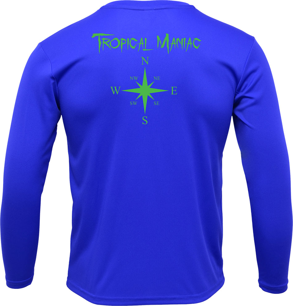 TM Youth Compass Rose Long Sleeve Performance Tee