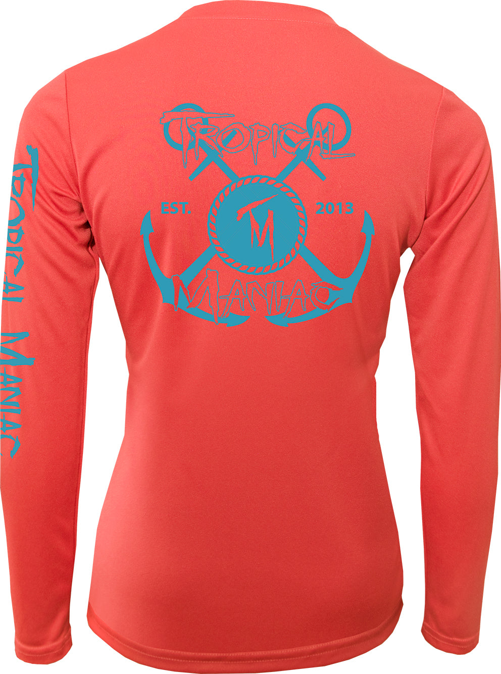 Ladies TM Cross Anchor Long Sleeve Performance V-Neck