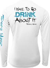 Ladies Drink About It Long Sleeve Performance V-Neck