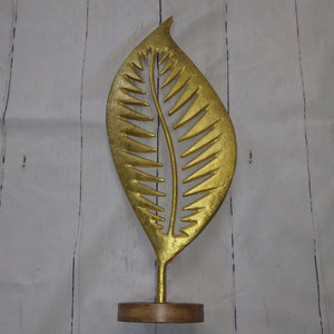 Decorative Metal Leaf Stand