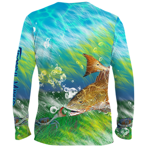 Tropical Maniac Redfish Performance Tee