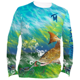 Tropical Maniac Redfish Graphic Performance Crew Neck