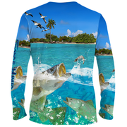 Tropical Maniac Trout Graphic Performance Crew Neck