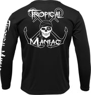 Pirate Cross Anchor Long Sleeve Performance Tee