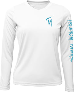 "Ladies Tropical Maniac ""Drink About It"" Long Sleeve Performance V-Neck"