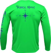Tropical Maniac Compass Rose Long Sleeve Performance Crew Neck